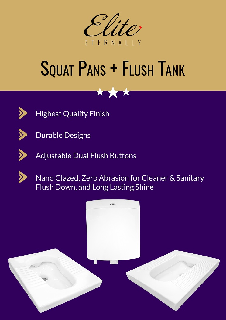 Squat Pans + Flush Tanks - Range